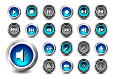 Web button. Set of Glossy web button icons on white Royalty Free Stock Images