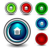 Web button. Set of Glossy web button icons on white Stock Image