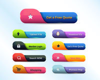 Web Button Set. This image has eps format file Royalty Free Stock Photos