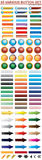 95 Web Button Set. This is many style of web button Vector Illustration