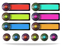 Web button set Stock Photography