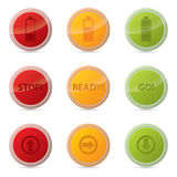 Web button set with various icons Royalty Free Stock Photography