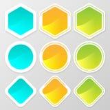 Web button shape set for website or app. Vector illustration Stock Images