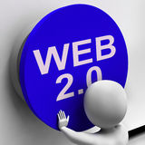 Web 2.0 Button Shows User-Generated Website Platform Royalty Free Stock Photography