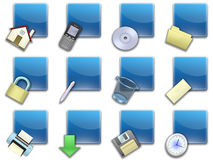 Web button squared blue (02) Royalty Free Stock Images
