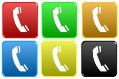 Web button - telephone Stock Images