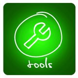 Web button - tools Royalty Free Stock Photos
