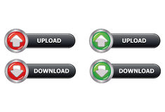 Web Button Upload Download Royalty Free Stock Photography