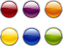 Web button vectors Stock Images