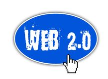 Web button - web 2.0 Royalty Free Stock Images