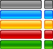 Web buttons. Web shiny buttons. Vector illustration Royalty Free Stock Photo