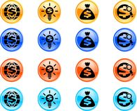 Web buttons. Business icons for internet. Set of color web buttons Royalty Free Stock Images