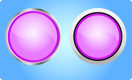 Web buttons. Two violette buttons for web Royalty Free Stock Images