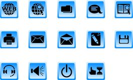 Web buttons. Set of internet icons. Web buttons Stock Images