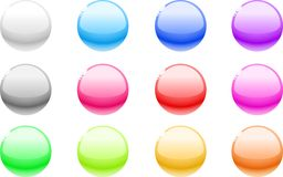 Web buttons. Color balls for web. Internet buttons Stock Photography