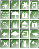 Web buttons. Your green shiny web button icons are ready Royalty Free Stock Photography