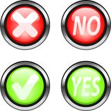 Web buttons. Yes and No web buttons. Color icons for internet Stock Photos