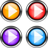 Web buttons. Color web buttons. Go forward internet icons Royalty Free Stock Photography