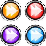 Web buttons. Color web buttons. Go forward internet icons Royalty Free Stock Photos