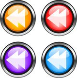 Web buttons. Color web buttons. Go backinternet icons Stock Images