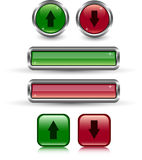 Web buttons. Set of varicoloured web buttons Stock Photo
