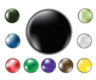 Web buttons. Set of six glossy bright web buttons Royalty Free Stock Photography