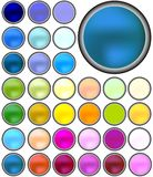 Web buttons. Collection in various colors, vector art Stock Photography
