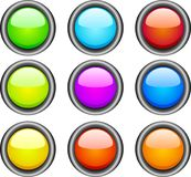 Web buttons. Set of beautiful color buttons for web. Internet buttons Royalty Free Stock Images