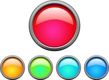 Web buttons. Collection of beautiful color web buttons. Internet icons stock illustration