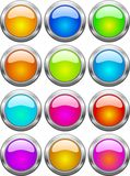 Web buttons. Collection of color web buttons. Internet buttons Royalty Free Stock Photo
