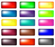 Web buttons. Set of colorful Web buttons clean render from a vector royalty free illustration