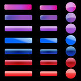 Web Buttons. Set of colorful vector web buttons and bars Stock Photo