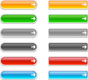 Web buttons. Web shiny buttons. Vector illustration Stock Photo