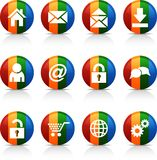 Web  buttons. Royalty Free Stock Image