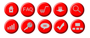 Web buttons. Collection of web buttons for site design Stock Image
