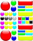 Web Buttons stock illustration