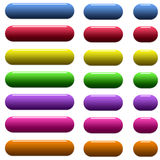 Web buttons. Many colored glossy rounded web buttons Royalty Free Stock Photography