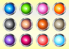 Web buttons. Shiny web buttons set. Vector file available Royalty Free Stock Photography