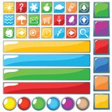 Web buttons. Web button, design concept for web Royalty Free Stock Photo