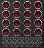 Web buttons. Web Internet and Security buttons Royalty Free Stock Images