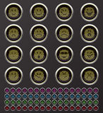Web buttons. Web internet and Smiley buttons Royalty Free Stock Photo
