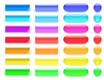 Web buttons. Web  buttons in different colors Stock Photos
