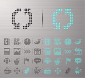 Web buttons. Perforated Computer and Internet buttons Stock Image
