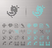 Web buttons. Perforated internet and communication buttons Royalty Free Stock Photos