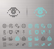 Web buttons. Perforated Internet and Security buttons Royalty Free Stock Image