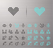 Web buttons. Perforated Internet and Interface buttons Stock Photos