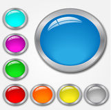 Web Buttons. Colorful Web Buttons on a white background Royalty Free Stock Photos