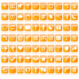 Web buttons. Glossy web buttons in orange tones Stock Photography