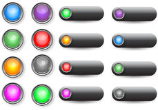 Web buttons. A set of web buttons for web browsers Royalty Free Stock Photo