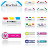 Web buttons. With special design Stock Photo